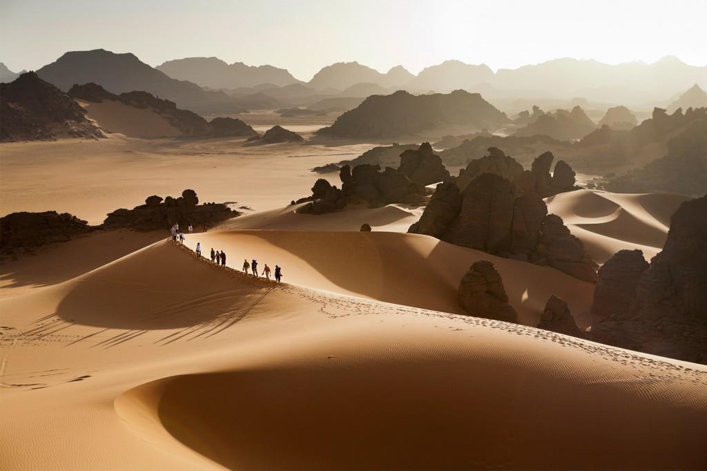 Libyen, Todrart Akakus Gebirge, Sanddünen