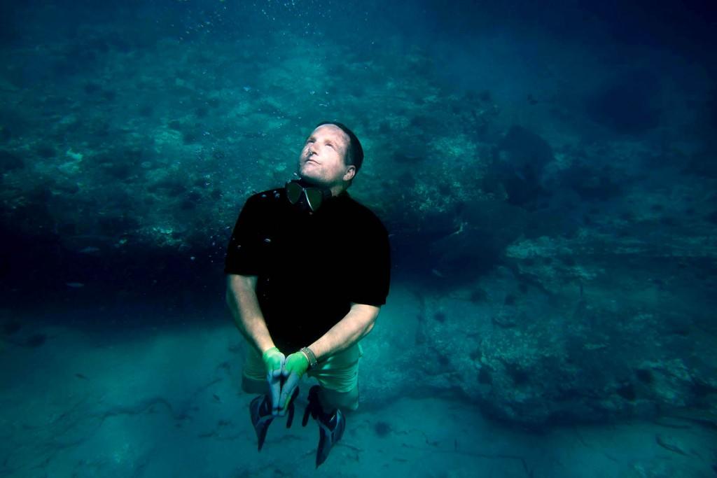Kanarische Inseln, Lanzarote, Artist Jason deCaires Taylor, Unterwasser Museum: Museo Atlantico, Kuenstlerportrait,   Studio in Playa Blanca