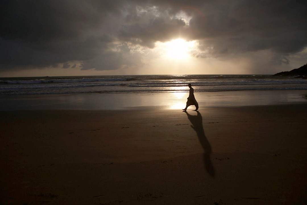Indien, Karnataka, Gokarna, Kudle Beach, Strand, Arabisches Meer