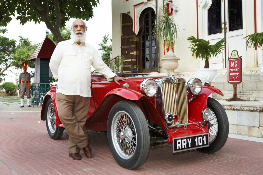 Indien, Republic of India, Rajasthan, Udaipur, City Palace, Stadt Palast, MG, Vintage Car Collection, Oldtimer, Lieblings Auto von Maharana Shriji Arvid Sing ji; Maharana von Udaipur