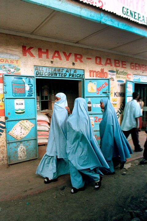 Kenia, Mombasa, Muslimische Frauen im Chador