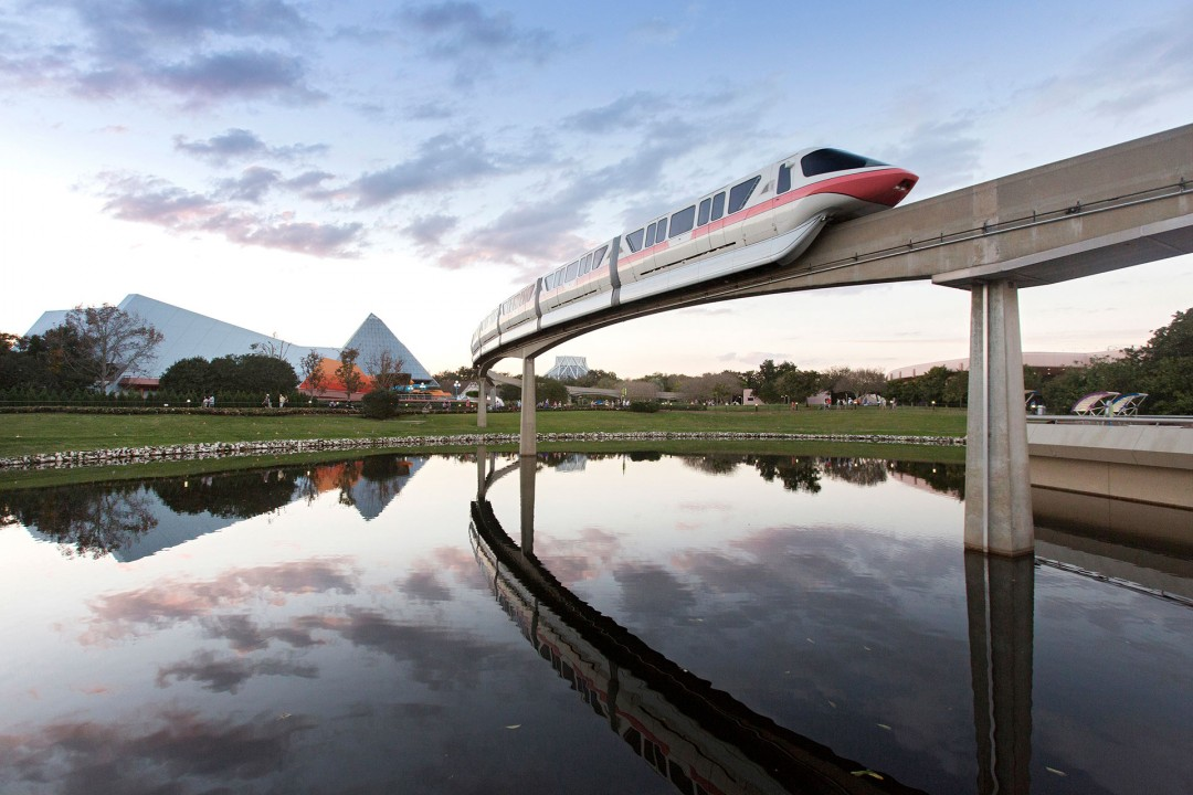 Reise Travel laif_creative USA, Amerika, United States of America, Florida, Orlando, Themenparks,  Walt Disney World,  WDW/, Epcot, Schwebebahn, Monorail