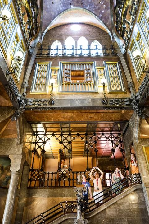 Europa Spanien Katalonien Barcelona El Raval Palau Guell Carrer de la Rambla Antoni Gaudi