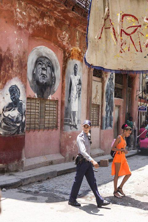 Antillen, Karibik, Cuba, Kuba, Republica de Cuba, Sozialismus, Nordwest Kuba, Havanna, La Habana Vieja, Altstadt, Art, Kunst Galerie, Wandgemaelde,