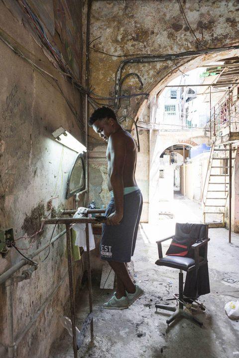 Antillen, Karibik, Cuba, Kuba, Republica de Cuba, Sozialismus, Nordwest Kuba, Havanna, La Habana Vieja, Altstadt, Friseur, Fitness