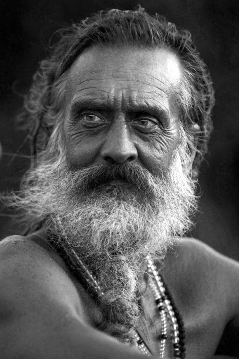 Indien, Karnataka, Gokarna, Kudle Beach, deutscher Sadhu, Pilger, Baba, 57 Jahre Menore Giri Baba