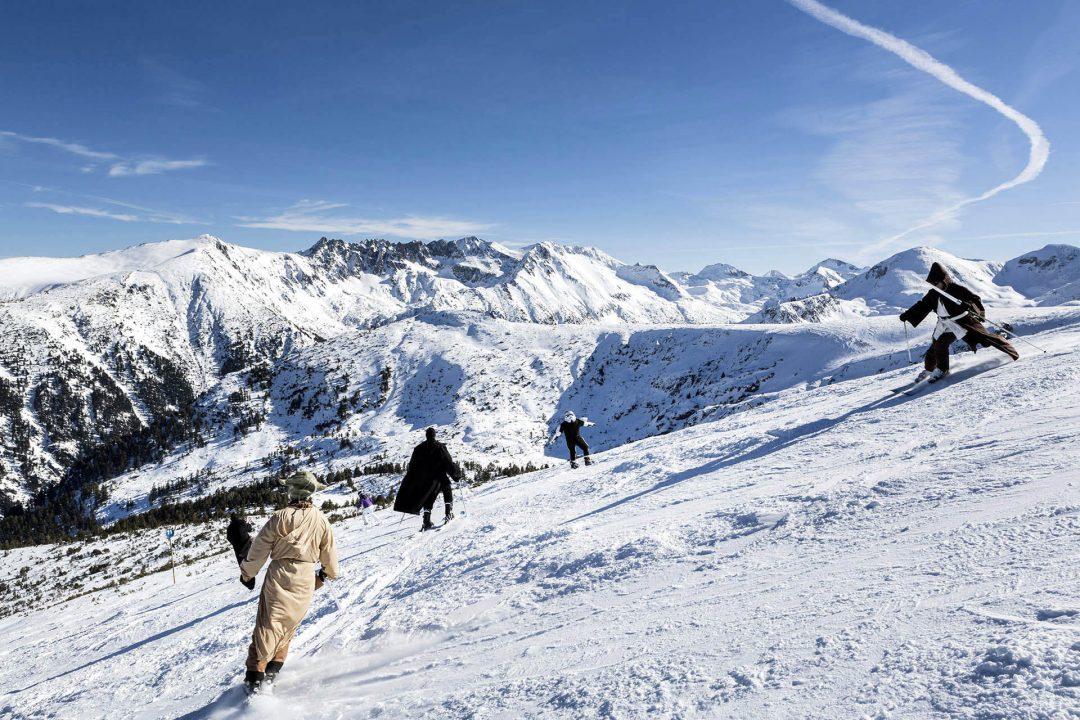 Bulgarien, Balkan, Bansko, Skigebiet, Pirin Nationalpark, vom Hausberg Todorka, 2525 meter, Blick auf das Pirin Gebirge,