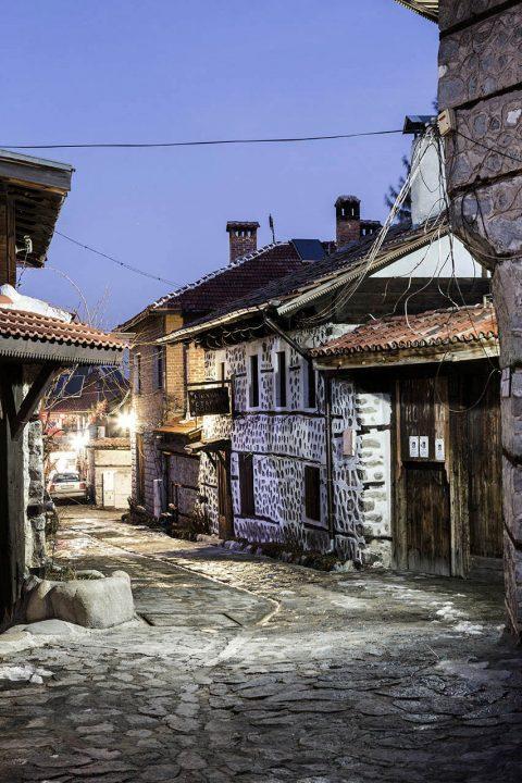 Bulgarien, Balkan, Bansko, Altstadt, Skigebiet, Pirin Street, Altstadt,
