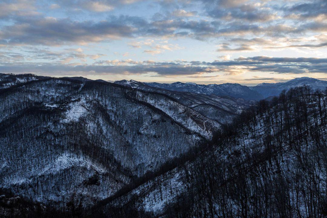 Montenegro, Balkan, Fahrt von Podgoriza nach Kolasin, Berge,