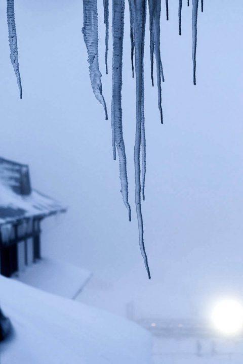 Serbien, Balkan, Kopaonik, Skigebiet, beim Hotel Grand ,Eiszapfen