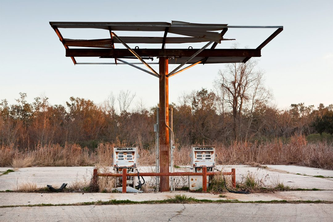 USA, Amerika, United States of America, Louisiana, Hopedale, alte Tankstelle