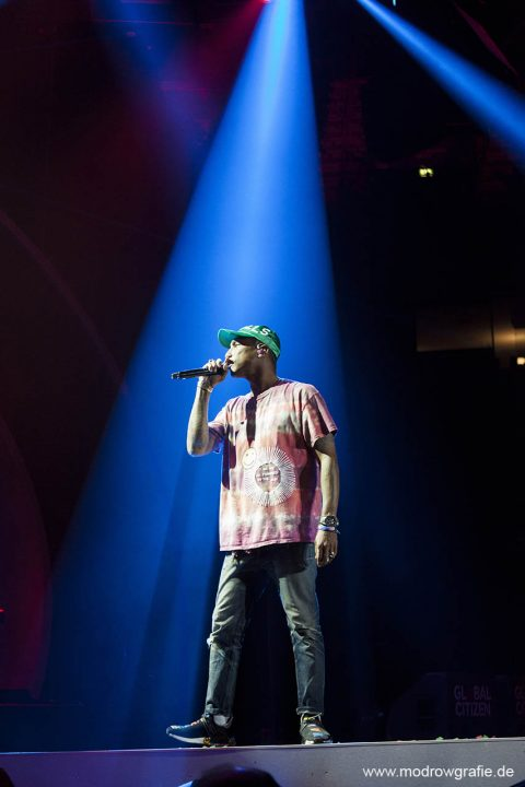 Germany, Hamburg, Barcley Card Arena, Volkspark, Concert, .Global Citizen Festival on 06.07.2017, the night before G20 Summit, in the Barclaycard Arena in Hamburg. The performing artists are Pharrell Williams,  The festival is organized by the social action platform Global Citizen.