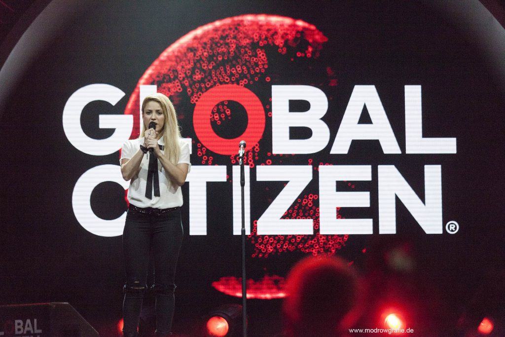 Global Citizen Festival on 06.07.2017, the night before G20 Summit, in the Barclaycard Arena in Hamburg. The performing artists are Shakira, The festival is organized by the social action platform Global Citizen.