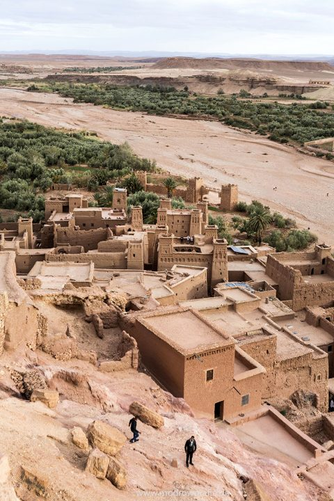Koenigreich Marokko, Kashbah,  Ait Benhaddou, Dorf, Schlucht, Fluss Asif Margen engl.: Morocco, UNESCO world heritage Site of Ait Benhaddou,, a well-preserved Kasbah, which has been used as a backdrop for many historical films, includingLawrence of Arabia, The Last Temptation of Christ, and Gladiator.