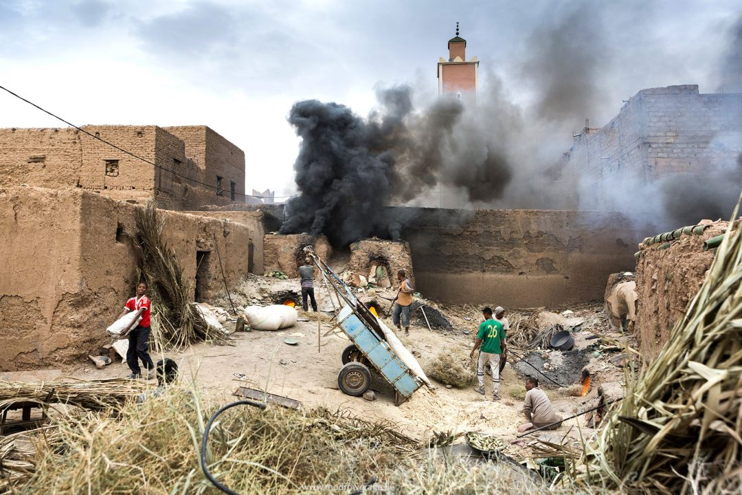Koenigreich Marokko, Tamgroute, Pottery Workshops, Toepfereien, Brennofen