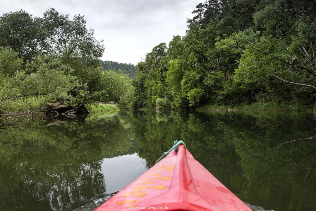 Europa, Deutschland, Donau, Baden-Wuerttemberg, von Hausen bis Thiergarten, Kanu, Wasserwandern, Naturpark Obere Donau, paddeln, Kanuten,