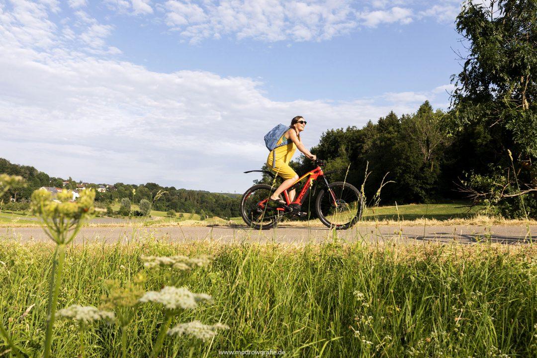 Europa, Deutschland, Donau, Baden-Wuerttemberg, 8.Naturpark Obere Donau, E Bike, Radfahren, Donau Radweg, Irrndorf bei Beuron