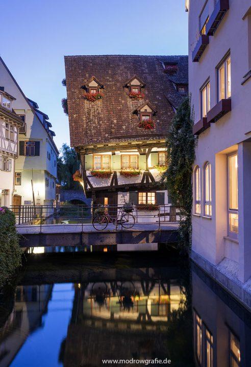 Europa, Deutschland, Donau, Baden-Wuerttemberg, Ulm, Hotel Schiefes Haus, histor. Gerber- und Fischerviertel